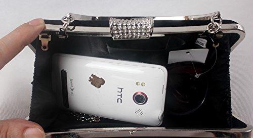 Violet Diamond party handbag Foreign bride Ladies hand bag dress black dress hand Diamond bag trade fwcfOqSF