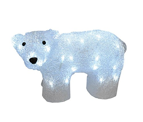 Outdoor Lighted Polar Bear Decorations in US - 6