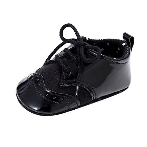 Saingace Baby Säugling scherzt Mädchen Jungen weiche alleinige Krippe Kleinkind Neugeborene Schuhe Schwarz