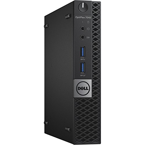 Dell Optiplex 7040 Micro Tower, Intel Core 6th Generation i5-6500T, 8 GB, 256 GB SSD, Windows 10 Home (Certified Refurbished)