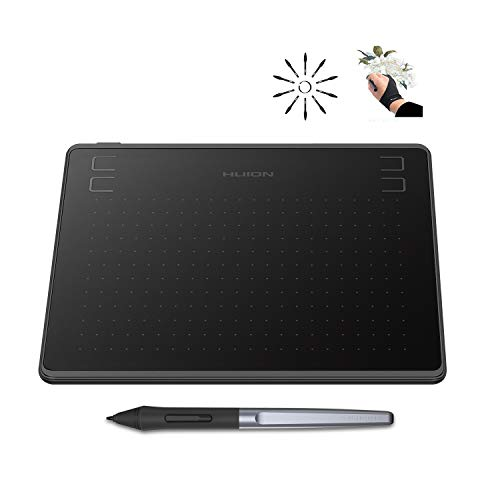 Huion HS64 Graphics Drawing Tablet 6.3'x 4' Battery-Free Stylus Android Devices Supported with 8192 Pen Pressure