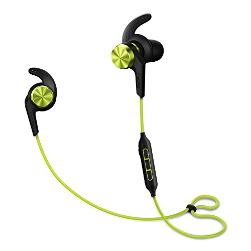 (1MORE iBFree in-Ear Earphones Wireless Sport Headphones Bluetooth CSR, IPX 4 Waterproof, Secure Fit in-Line Remote Gym Running Workout - Green)