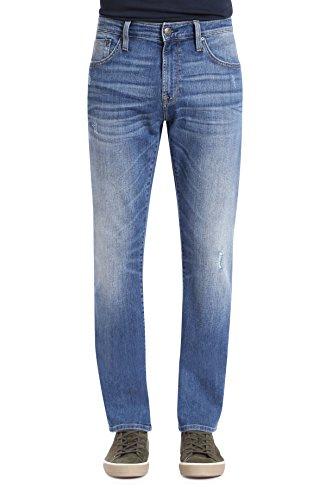 Mavi Men's Zach Regular-Rise Straight-Leg Jeans, Lt Destructed Authentic Vintage, 36W x 32L