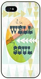 It is well with my soul - Vintage art - Bible verse iPhone 5 / 5s black plastic case / Christian Verses by runtopwell