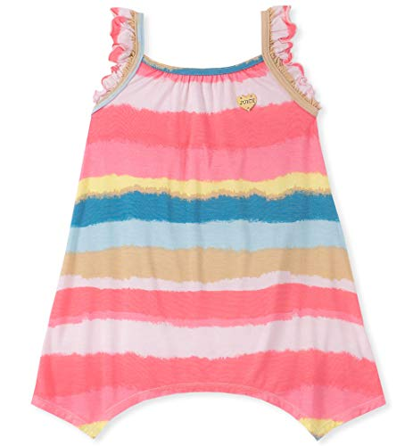 Juicy Couture Girls' Little Summer Dress, Peach/Yellow/Blue Stripes 6 ()