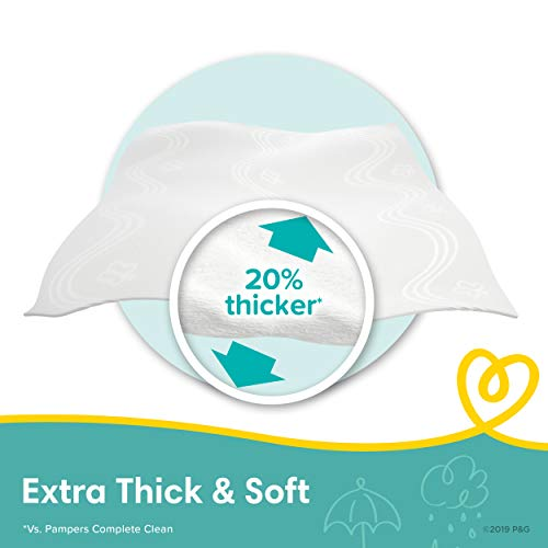 Baby Wipes, Pampers Sensitive Water Based Baby Diaper Wipes, Hypoallergenic and Unscented, 8 Pop-Top Packs with 4 Refill Packs for Dispenser Tub, 864 Total Wipes (Packaging May Vary)