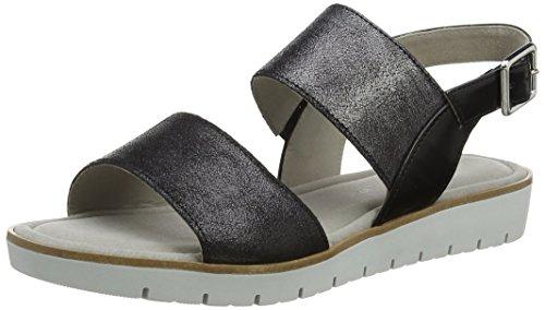 Gabor Dames Mode Open Sandalen Met Sleehak, Blauw Zwart (zwarte 67)