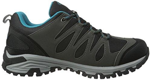 Bruetting Women's Expedition Low Rise Hiking Shoes Grey (Anthrazit/Schwarz/Tuerkis) wzKChJqa