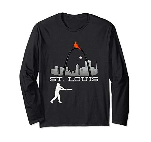 Saint Louis Red Cardinal Long Sleeve Shirt Baseball - Cardinals Long Sleeve Louis