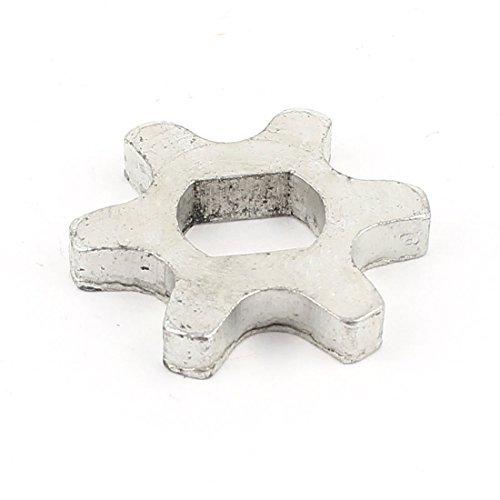 Parte 6 5016 Piñ ó n dientes de metal, color plateado Sourcingmap US-SA-AJD-44572