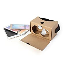 V2 Google Cardboard DIY Kit, GMYLE Virtual Reality Viewer 3D Cardboard Glasses With Head strap for 4.4 to 5.5 inches Smart Phones (Version 2) (No conductive button)