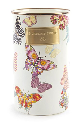 MacKenzie-Childs Butterfly Garden Utensil Holder - White