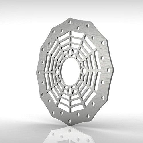 Spiderweb Rear Brake Disc Rotor Stainless fits: 06-13 Yamaha Raptor 700 YFM700R - Ferreus Industries - ()
