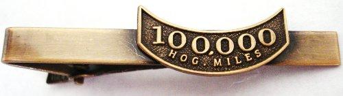 Harley Davidson HOG Motorcycle Mileage Rocker 100K 100000 Miles Replica Tie Bar ()