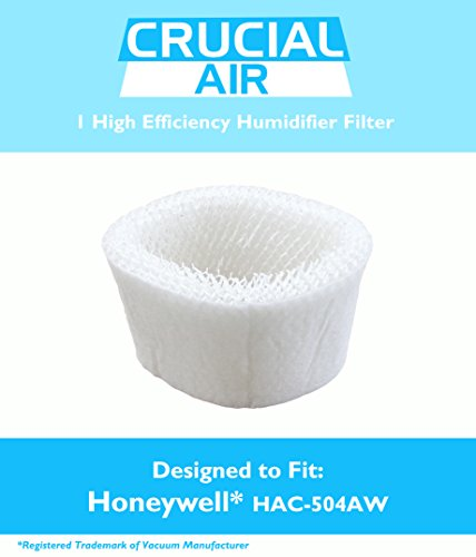 1 Honeywell HAC-504AW Humidifier Filter; Fits Honeywell HCM-350, HCM-600, HCM-710, HCM-300T & HCM-315T; Compare to Part # HAC-504AW; Designed & Engineered by Crucial Air