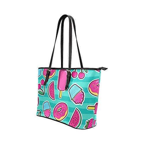 Axelväska camping färgglad konst mode nagellack läder handväskor väska orsaksala handväskor dragkedja axel organiserare för damer flickor kvinnor handväskor handtag