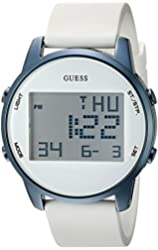 GUESS Women's U0815L3 White Multi-Function Digital Watch on Comfortable Silicone Strap