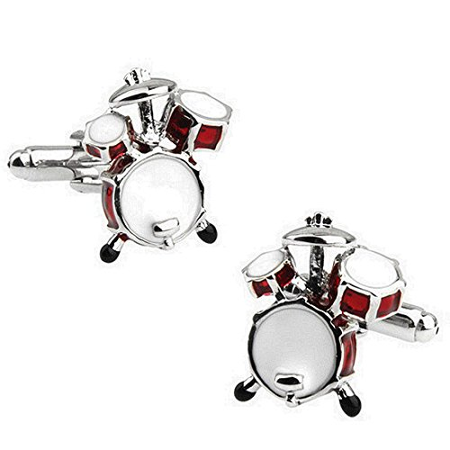 Rxbc2011 Men's Drum Style French Shirts Cufflinks 1 Pair Set (Mens Drum)
