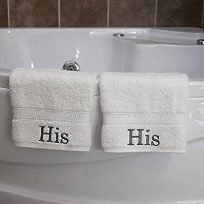 Auténtico Hotel y Spa bordado su turco algodón Toallas de mano (Set de 2)