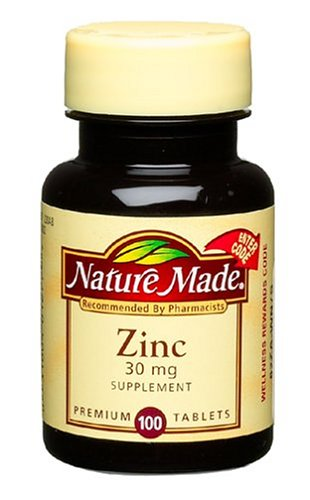 Nature Made Zinc 30mg, 100 Tablets (Pack of 6)