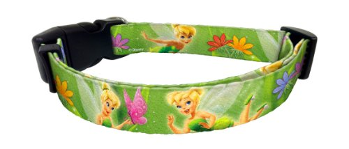 "Platinum Pets Disney 3/4"" Nylon Collar (10"" Thru 16"") with Tinker Bell Design"