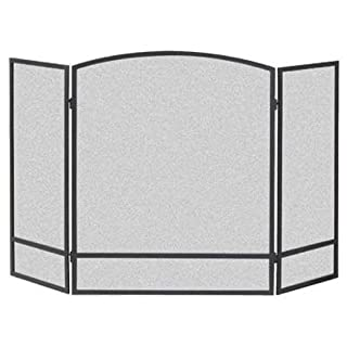 Panacea Products 15951 3-Panel Arch Screen with Double Bar for Fireplace (B000X4SWAS) | Amazon Products