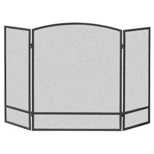 Panacea Products Not 15951 3-Panel Arch Screen with Double Bar for Fireplace, - Fireplace Wood Two Sided Burning