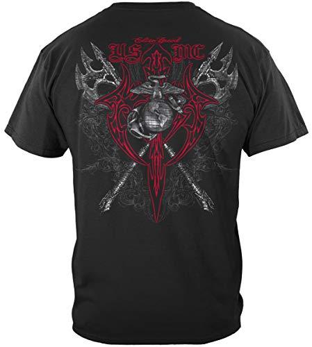 - USMC Decal | Marine Axes Red Tribal Shirt ADD100-THM060XXL