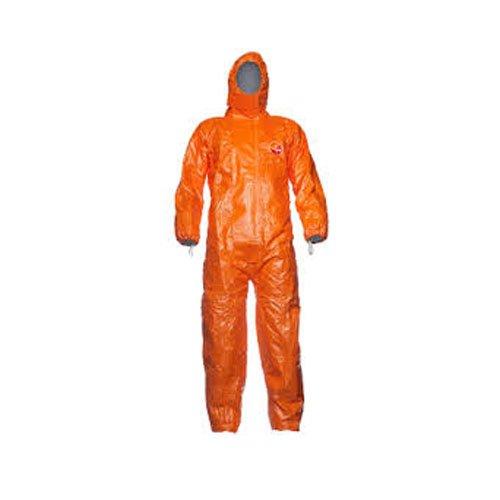 Tychem F D13495252, Modelo CHA5 con capucha - Mono, tamañ o mediano, color naranja, 1 unidad Modelo CHA5 con capucha - Mono tamaño mediano DuPont