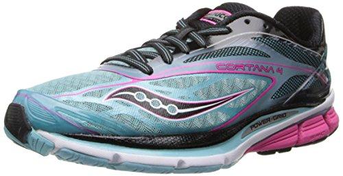 Saucony Women's Cortana 4 Running Shoe,Blue/Pink/Black,10.5 M US
