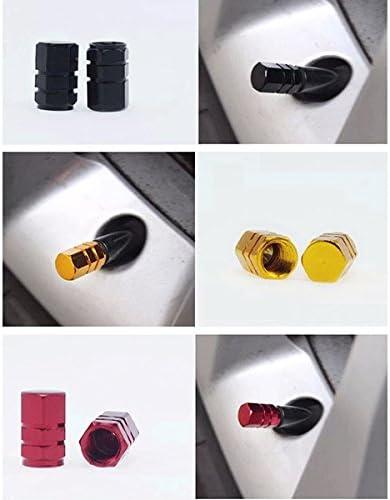 WINOMO 5 Farben sechseckigen Auto Auto Reifen Ventilkappen deckt 20pcs
