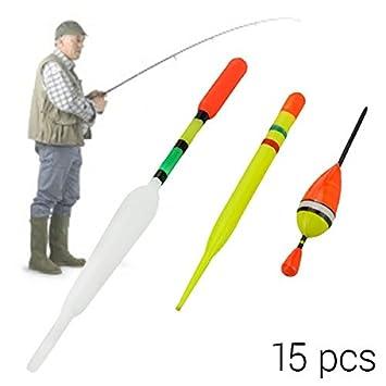 Vintage flotadores de pesca 15 unidades son ideales para pesca con flotador: Amazon.es: Deportes y aire libre