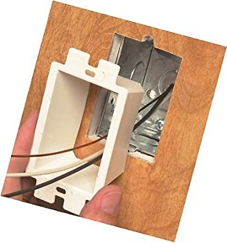 iMBAPrice BE3-2 3-Gang 2-Pack Electrical Power Outlet Box Extender White Made in USA