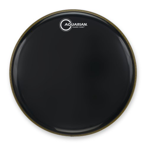 Aquarian Drumheads CC12BK Classic Clear 12-inch Tom Tom Drum Head, gloss black (Black Tom Multi)