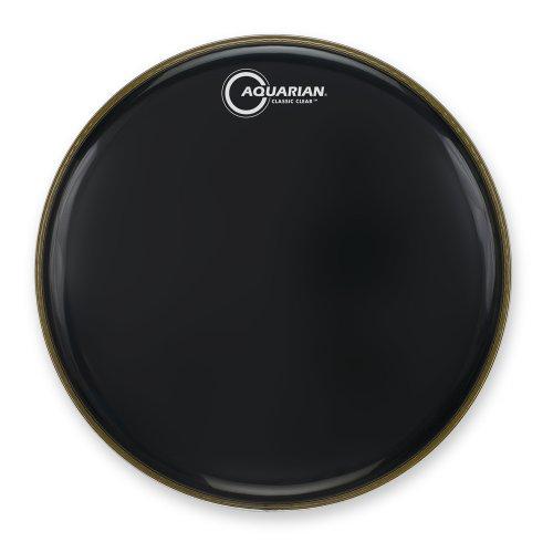 Aquarian Drumheads CC10BK Classic Clear 10-inch Tom Tom Drum Head, gloss (Black Classic Drum)