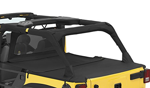 (Bestop 90034-35 Black Diamond Duster Deck Cover Extension for 2007-2017 Wrangler Unlimited)