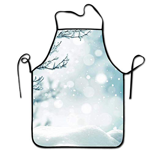 Apron Cooking Kitchen Crafting Artist Gardening Aprons for Women Men - Winter Wonderland Pictures]()