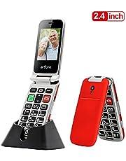 Seniorenhandy, Artfone Mobiltelefon Senioren-Handy Großtastenhandy ohne Vertrag mit großen Tasten 2,4 Zoll Farbdisplay Notruftaste Taschenlampe GSM Dual SIM Rentner Tasten Handy Tastenhandy