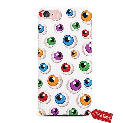Tobe Yours 3D Phone Case Halloween Bloody Zombie or Alien Eyeballs Scary Cartoon Funny Durable Protective Anti-Scratch iPhone 8 Apple Phone Case Cover ()