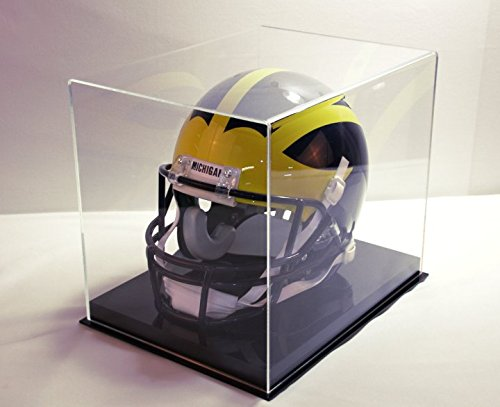 Football Helmet Display Case with All Black Acrylic -