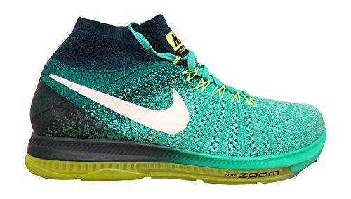 cheap for discount de5b4 37472 Nike Herren Zoom All Out Flyknit Laufschuh Verde (Klar Jade    Weiß-Mitternacht Turq