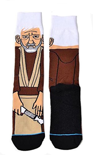 Star Wars Obi Wan Kenobi Character 360 Crew Socks ()
