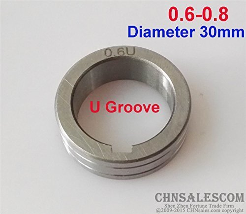 CHNsalescom Wire Feed Roller U Groove 0.6-0.8 Diameter 30mm MIG MAG Welding Machine