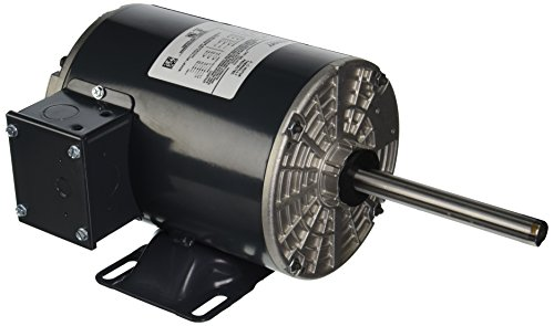 Marathon X533 56Z Frame Condenser Fan/Heat Pump Motor, 3 Phase, Rigid Base, Open Air Over Shaft, Shaft Dimension 5/8'' x 5'', 2.1-2.0/1.0 amp, 1/2 hp, 1140 rpm, 208-230/460V by Marathon Electric (Image #1)