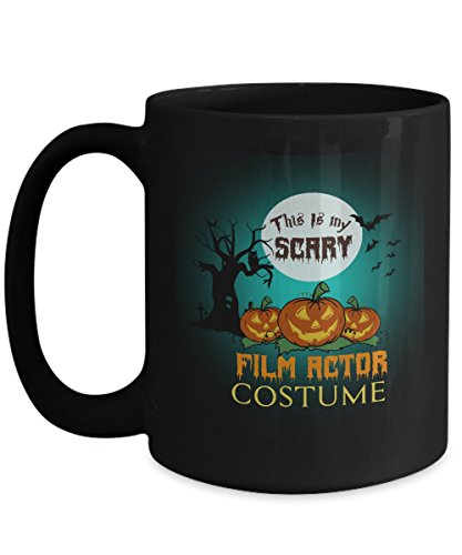 Film Actor Costume Black Coffee Mug 15oz Halloween-This Is My Scary Film Actor Costume For Yourself, Colleague Who Are Film Actor Costume On Halloween -