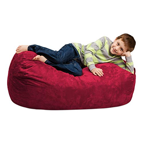 Chill Sack Bean Bag Chair: Large 4' Memory Foam Furniture Bag and Large Lounger - Big Sofa with Soft Micro Fiber Cover - Cinnabar ()