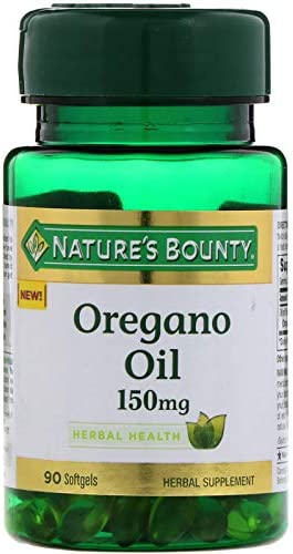 Nature s Bounty Oregano Oil, Antioxidant and Herbal Health Support*, 150mg, 90 Softgels