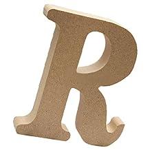 MagiDeal Wooden Alphabet Craft Letters Plaque Wall Hanging Wedding Nursery Decor - R