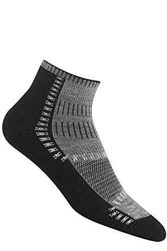 Trail Trax Pro Quarter Socks, Grey, Medium