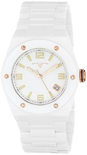 (Swiss Legend Women's 10054-WWTRA Throttle Analog Display Swiss Quartz White Watch)